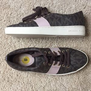 Michael Kors brown and pink sneakers size 8 women